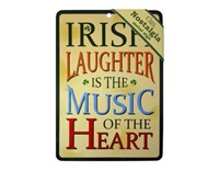 Irish Laughter Nostalgia Metal Sign, 21cm x 15cm