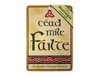 Image for Cead Mile Failte Nostalgia Metal Sign, 21cm x 15cm
