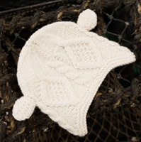 Image for Kids Hat with Ears, Winter White
