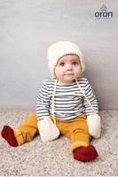 Image for Handknit Merino Baby Mittens and Hat Gift Set, Winter White