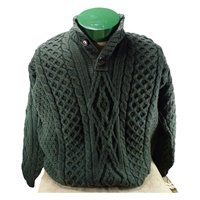 Image for 3 Button Irish Sweater, Connemara Green