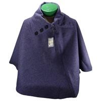 Image for Mucros Irish Tweed Poncho Solid Purple
