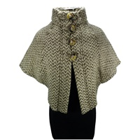 Image for The Rita Cape by Brannigan Weavers Natural Beige Herringbone
