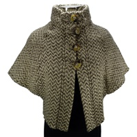 Image for The Rita Cape by Brannigan Weavers Natural Grey