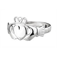Image for Sterling Silver Classic Claddagh Ring