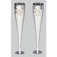 Mullingar Pewter Greek Claddagh Champagne Flutes (3)