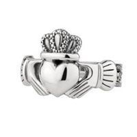 Image for Sterling Silver Large Celtic King Claddagh Ring