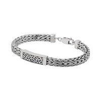 Image for Silver Heavy Trinity Knot Bracelet
