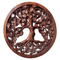 Image for Blue Frog Handcarved Wooden Tree Of Life CM16-7
