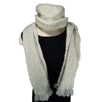 Branigan Weavers Herringbone Dove/Cream Scarf