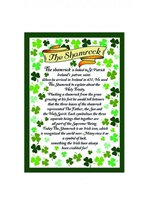 Image for Shamrock Verse Tea Towel
