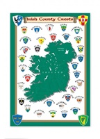 Image for Irish County Crests Tea Towel