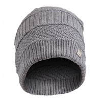 Image for Olann Grey Woven Detail Beanie