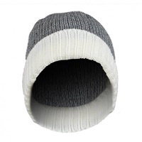 Image for Olann White Grey Contrast Beanie