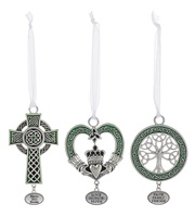 Image for Irish Blessings Pewter Ornaments