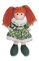 Image for Sinead Ragdoll with Shamrock Design Dress