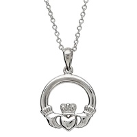 Image for Sterling Silver Small Claddagh Pendant