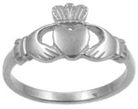 Image for Sterling Silver Claddagh Ring