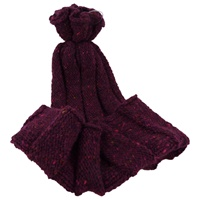 Image for Bill Baber Hand Loomed Jura Hat, Burgundy