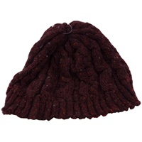 Image for Bill Baber Hand Loomed Beanie Hat, Burgundy