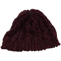 Image for Bill Baber Hand Loomed Beanie Hat, Burgundy