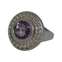 Image for Inis Aran Cable Stitch Ring Amethyst