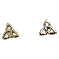 Image for 14K Yellow Gold Tiny Trinity Stud Earrings