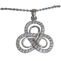 Image for Sterling Silver CZ Trinity Pendant