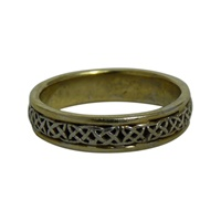 Image for Liberty 14K Yellow and White Gold Celtic Knot Wedding Ring