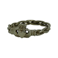 Image for Braided Claddagh Ring Sterling Silver