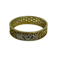Image for Claddagh Celtic Weave Band 14K