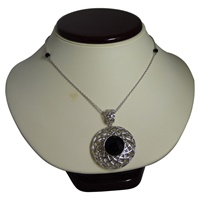 Image for Creel Sterling Silver and Black Onyx Pendant