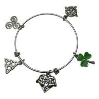 Image for Silver Plated Charm Bracelet with Spiral