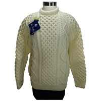 Image for Hand Knitted Irish Crew Neck Pullover Aran Ann Devine