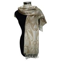 Image for Patrick Francis Book of Kells Beige Pashmina Scarf
