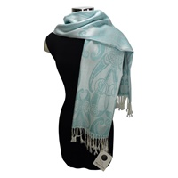 Image for Book of Kells Motif Pashmina Scarf, Marine Blue