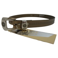 Image for Lee River Leather Triskle Belt, Lichen