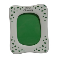 Image for Shamrock Covered Christening Frame