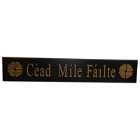 Image for Wooden Carved Wallboard Cead Mile Failte