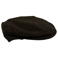 Image for Hanna  Vintage Style Harris Tweed Cap, Peat Color
