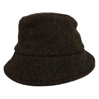 Image for Hanna Wee Thatch Harris Tweed Hat, Peat Color