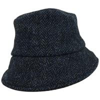 Image for Hanna Hat Wee Thatch Tweed Hat, Navy Herringbone