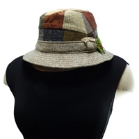 Image for Hanna Hat Tweed Patchwork Walking Hat