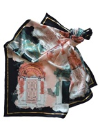 Image for Patrick Francis Georgian Door Silk Scarf, Bottle/Blush