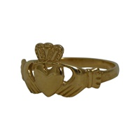 Image for Facet 14K Yellow Gold Irish Claddagh Ring
