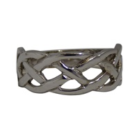 Image for 10K White Gold Celtic Weave Ring