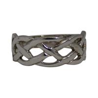 Image for 10K White Gold Celtic Weave Ring