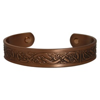 Image for Copper Celtic Knot Intricate Bracelet with Magnet