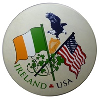 "Image for 15"" Waltons Irish USA Flag Rim Design"