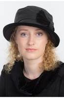 Image for Annie Wax Velvet Bow Fashion | Rain Hat by Kathleen McAuliffe